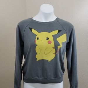 CUTE!! Pokemon Gray Sweatshirt  SZ Medium